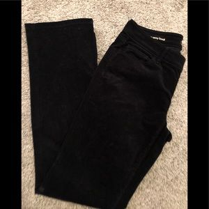Black corduroy boot cut pants